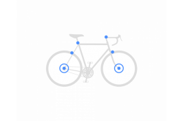 Set secures front wheel + rear wheel + seat post + fork + brakes