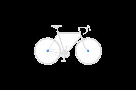 Set secures front wheel + rear wheel