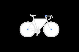 Set secures front wheel + rear wheel + fork