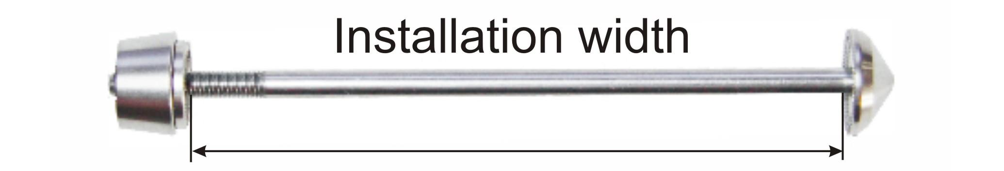 installation width