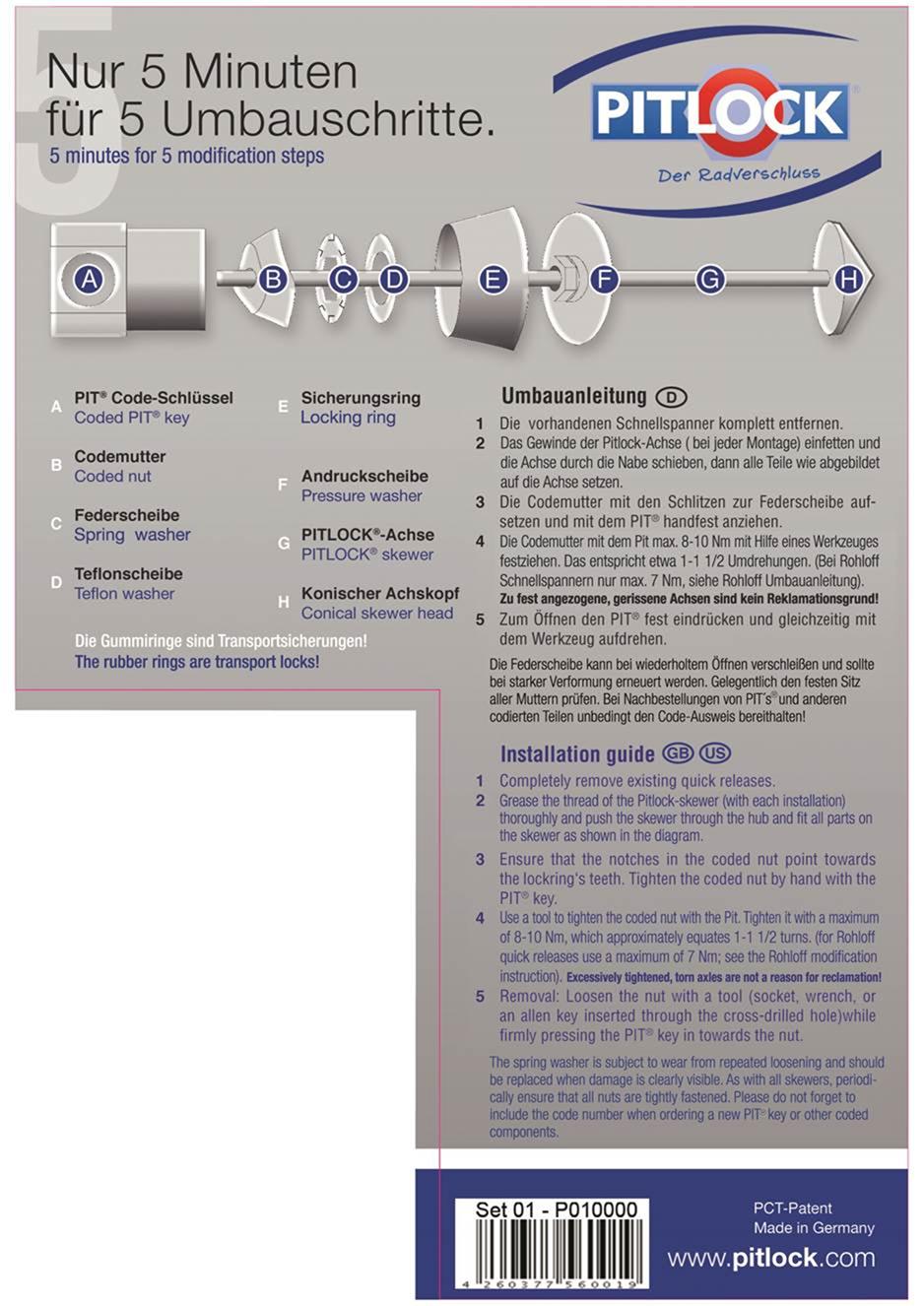 Umbauanleitung für Schnellspannsicherungen