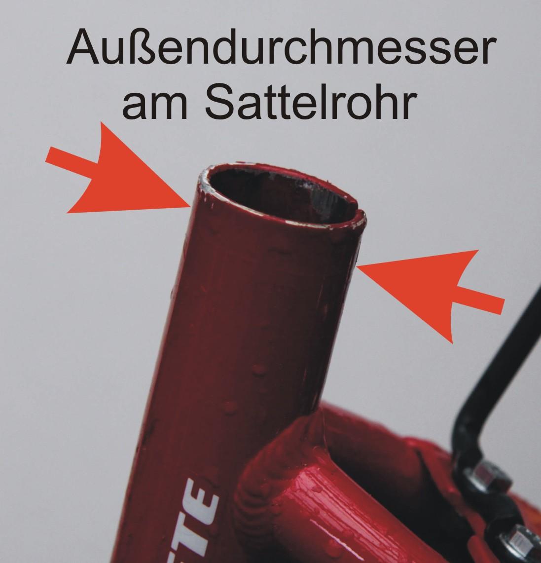durchmesser fahrradrahmen